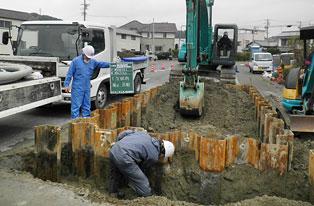 矢板立坑設置工事